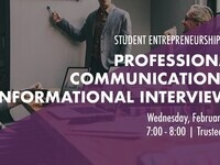 Professional Communication and Career Workshop (Cancelled)
