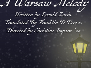 flyer announcing a warsaw melody event with small street light.
