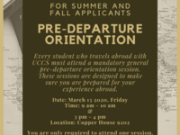 General Pre-Departure Orientation for Summer/Fall Applicants