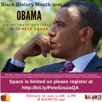 Moderated Discussion: Obama: An Intimate Portrait with Pete Souza | Multicultural Affairs