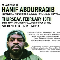 An Evening with Hanif Abdurraqib