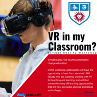 Virtual Reality Workshop Flyer