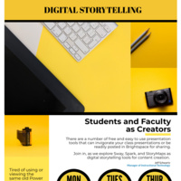 Digital Storytelling Flyer