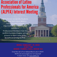 Association of Latino Professionals For America Interest Meeting