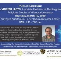 Public Lecture by Dr. Vincent Lloyd