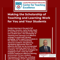 Making the Scholarship of Teaching & Learning Work for You & Your Students