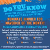 Maverick of the Month & Spirit Week Joint Tabling