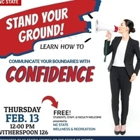 A poster for the Stand Your Ground Communication Workshop