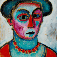 "Alexej von Jawlensky (Russian, 1864–1941), ""Head of a Woman,"" ca. 1912, oil on composition board. R.T. Miller Jr. Fund, 1955.23"