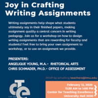 Joy in Crafting Writing Assigments