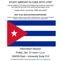 Info Session: Study Abroad in Cuba with UTEP May 18-28