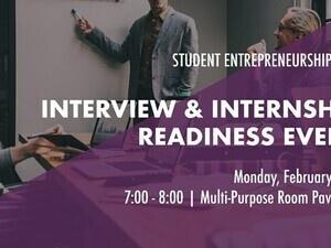 Interview & Internship Readiness Event