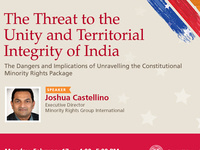 India Law Center Lecture: The Threat to the Unity and Territorial Integrity of India