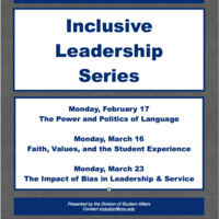 CANCELED Inclusive Leadership Series: Faith, Values, and the Student Experience