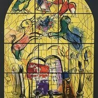 Auction Lot 5: Marc Chagall, Vitraux Pour Jerusalem – The Tribe of Levi. Poster. 1961.