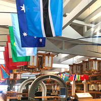Flags in the Student Center