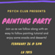 Text details about the Psych Club Painting Party included in event summary