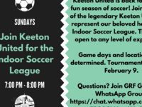 Join Keeton United for the Indoor Soccer League