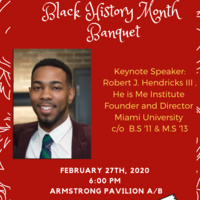 Image of 2020 Black History Month Banquet Flier