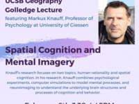 Spatial Cognition and Mental Imagery: A Golledge Lecture featuring Professor Markus Knauff