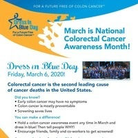 Dress in Blue Day for Colorectal Cancer Awareness Month