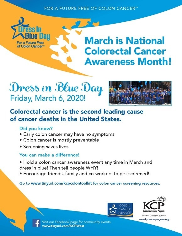 National Colon Cancer Awareness Month University Of Louisville