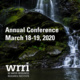 A poster promoting the 2020 WRRI annual conference.
