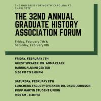 Graduate History Association Forum