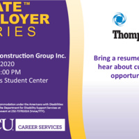 CANCELLED: Pirate Employer Series: Thompson Construction Co.