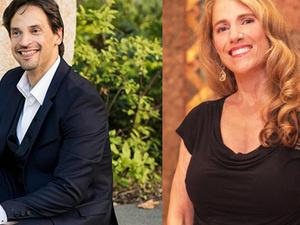 Conductor-in-residenceDarwin Aquino and soprano Kelly Daniel-Decker.