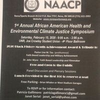 1st Annual African American Health and Environmental Climate Justice Symposium