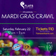 Mardi Gras Bar Crawl in the Flats East Bank