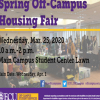 *CANCELED* Spring 2020 Off-Campus Housing Fair