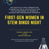 First Generation Women in STEM Bingo Night