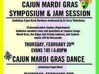 Cajun Mardi Gras Symposium & Jam Session