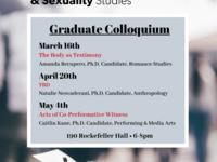 Cancelled: FGSS Graduate Colloquium Series