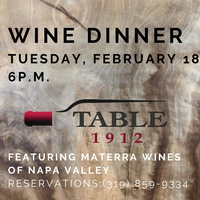 February Wine Dinner at Table 1912