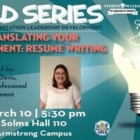 OSA-ARM   SOLD Series   Translating Your Involvement: Resume Writing