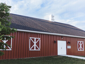 The new Weathervane Playhouse barn is shown.