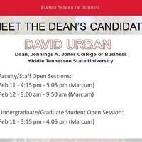 Meet the Dean candidates: David Urban
