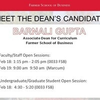 Meet the Dean candidates: Barnali Gupta