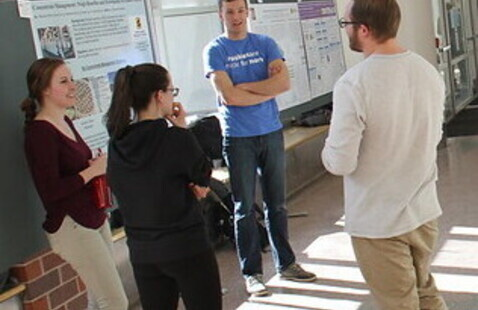 Students at the poster session.