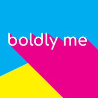 Boldly Me Health Week graphic in cyan, magenta and bright yellow