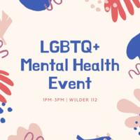 LGBTQ+ Mental Health Event