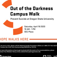 POSTPONED Out of the Darkness Campus Walk to Prevent Suicide