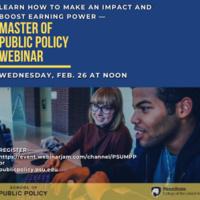 Master of Public Policy Program Webinar