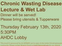 Chronic Wasting Disease Lecture and Lab