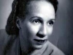 black and white photo of shirley graham du bois
