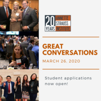 Great Conversations: Apply now to attend!