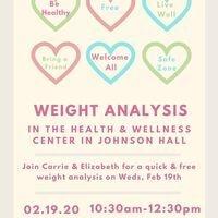 Weight Analysis | Health & Wellness Center